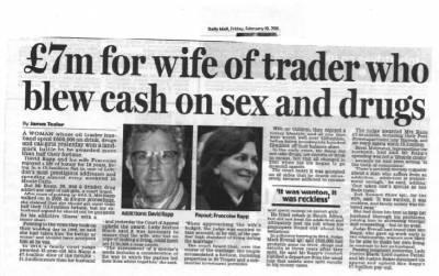 The case of Francoise Rapp v David Rapp: Client wins £7.4 divorce pay-out - Divorce Solicitor